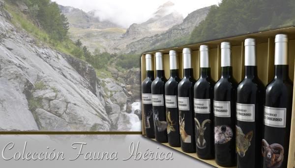 """Colección """" FAUNA IBERICA"""" Vino Tinto Caja Especial 8 Botellas de 750 ml"""