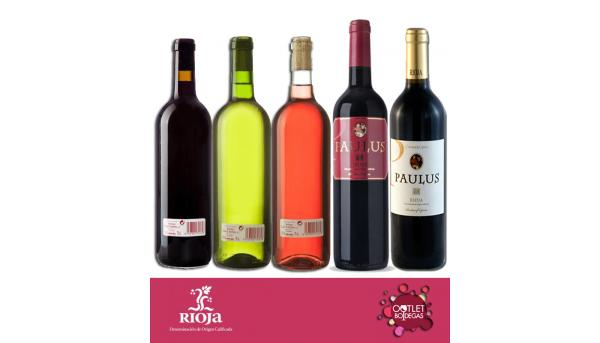 Lote básico vino de mesa variado y Rioja joven y crianza
