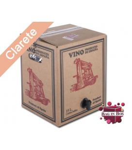 Bag in Box 15L Vino Clarete Cosechero Bodega Los Corzos