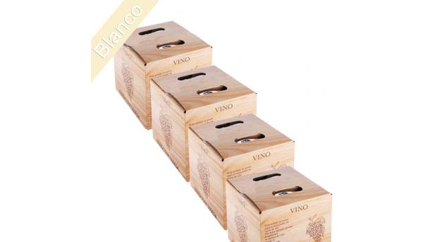 (Lote 24 Cajas 5 Litros) Vino Bag in Box 5 Litros Blanco Joven
