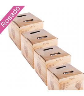 (Lote 24 Cajas 5 Litros) Vino Bag in Box 5 Litros Rosado Joven