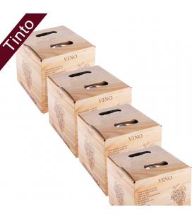 (Lote 24 Cajas 5 Litros) Vino Bag in Box 5 Litros Tinto