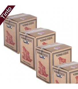 (Lote 15 Cajas 15 Litros) Vino Bag in Box 15 Litros Tinto