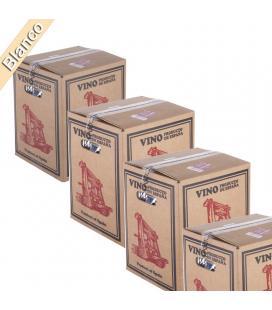 (Lote 15 Cajas 15 Litros) Vino Bag in Box 15 Litros Blanco Joven