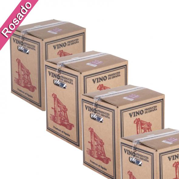 (Lote 15 Cajas 15 Litros) Vino Bag in Box 15 Litros Rosado Joven