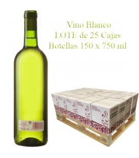 """LOTE Vino Blanco cosechero Bodega """"Los Corzos"""" 25 Caja de Botellas 6 x 750 ml"""