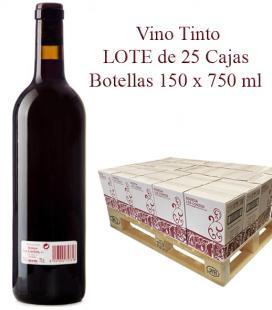 "LOTE Vino Tinto cosechero Bodega ""Los Corzos"" 25 Caja de Botellas 6 x 750 ml"