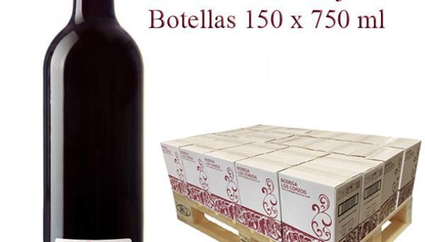 "(Lote 25 Cajas x 6 Botellas) Vino tinto Cosechero 2019 ""Los Corzos"""