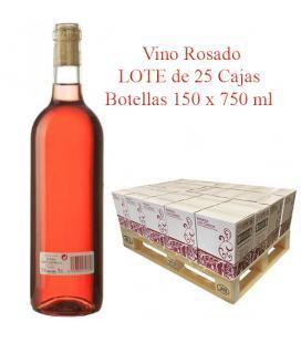"""LOTE Vino Rosado cosechero Bodega """"Los Corzos"""" 25 Caja de Botellas 6 x 750 ml"""
