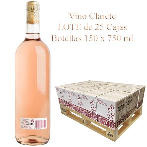 "(Lote 25 Cajas x 6 Botellas)  Vino Clarete ""Los Corzos"""