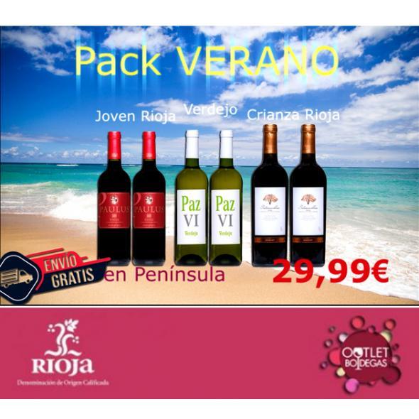 Pack Verano Tinto Rioja Joven Paulus, blanco verdejo Paz VI y Sotonovillo Crianza Tinto Rioja