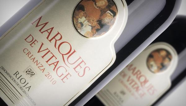 "Vino Rioja Crianza ""Marqués de Vitage"""