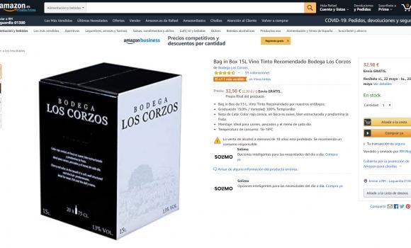 Nº 1 de ventas en Amazon con nuestro Bag in Box de 15L Vino Tinto Recomendado