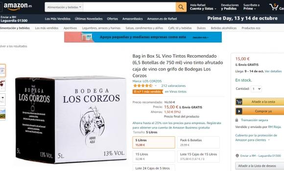 Vino en Bag in Box de 5 y 15 Litros El Nº1 más vendido en Amazon
