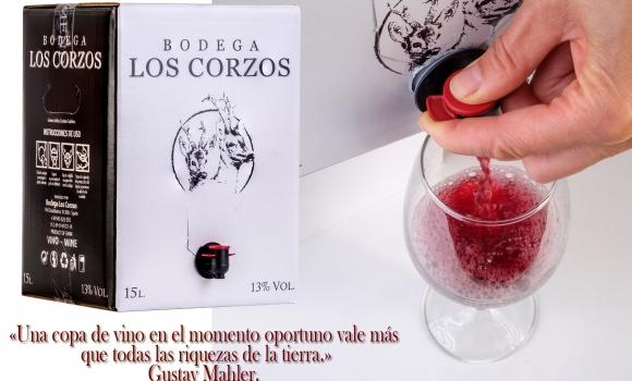 Nuestro Vino tinto en Bag in Box 5 y 15L Bodega Los Corzos lo más vendido en AMAZON en la categoría Vino tinto en ese formato.