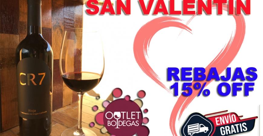 Los 3 mejores vinos para regalar por San Valentín de Outletbodegas.